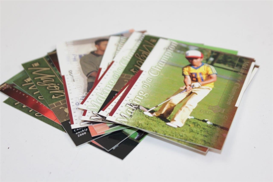 Tiger Woods Upper Deck 'Collectibles' Card in Original Tin with Commemorative Grand Slam Card