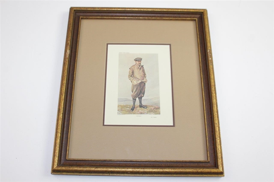 Four Vintage Reproduction Golf Prints - Framed