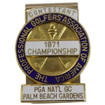 1971 PGA Championship at PGA National GC Contestant Badge - Jack Nicklaus Winner
