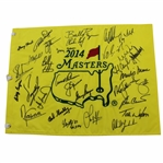 2014 Masters Champions Dinner Flag Signed by 31 with Palmer, Nicklaus, & Player Big 3 Center - Charles Coody Collection JSA ALOA