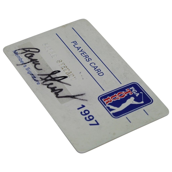 Payne Stewart's Official 1997 PGA Tour Member Card - Signed JSA ALOA