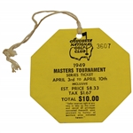 1949 Masters Tournament SERIES Badge #3607 with Original String - Top Condition!