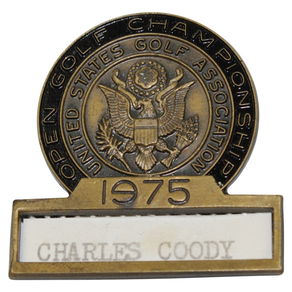 Charles Coody's 1975 US Open at Medinah Contestant Badge
