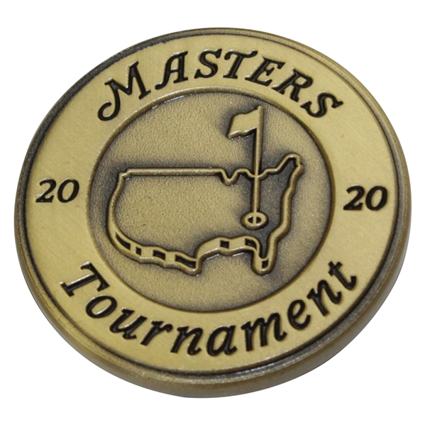 2020 Masters Tournament 'Thank You' Medallion in Original Package - Given Out
