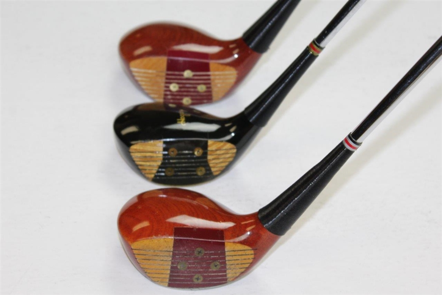 Hogan #1 Apex M85042 & 3 Wood G82042 with Persimmon 3 Wood Black Magnum Persimmon Golf Clubs