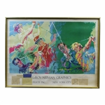 Leroy Neiman Signed Print with Cut Sigs of Hogan & Snead with Big 3 & Trevino JSA ALOA