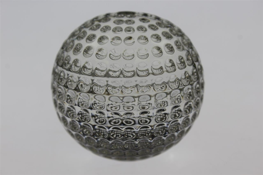Masters Tournament Tiffany & Co. Undated Crystal Golf Ball Paperweight in Original Box