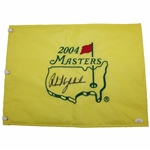 Phil Mickelson Signed 2004 Masters Tournament Embroidered Flag JSA FULL #BB71384