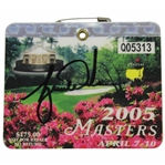 Tiger Woods Signed 2005 Masters Tournament SERIES Badge #Q05313 JSA FULL #BB09854