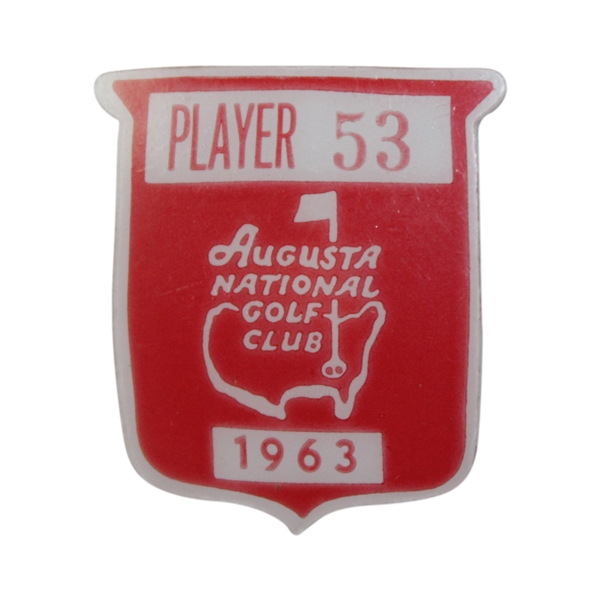 Charles Coody's 1963 Masters Tournament Contestant Badge #53