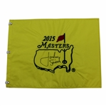 Jordan Spieth Signed 2015 Masters Embroidered Flag - Charles Coody Collection JSA ALOA