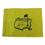 Tiger Woods Signed Undated Masters Embroidered Flag - Charles Coody Collection JSA ALOA