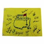 2010 Masters Champions Dinner Flag Signed by 16 Including Ford, Player, Phil & others - Charles Coody Collection JSA ALOA