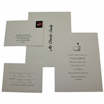 Charles Coodys 2015 Augusta National Golf Club Masters Tournament Cocktail Buffet Invitation with Envelope & RSVP Card