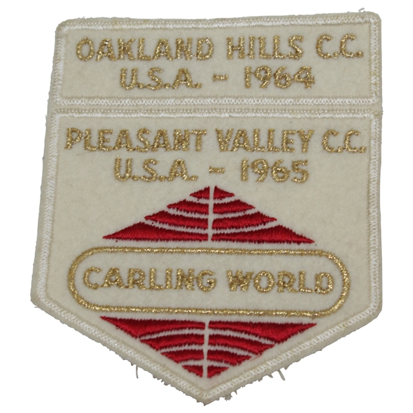 Charles Coody's Carling World Patch - Oakland Hills CC (1964) & Pleasant Valley CC (1965)