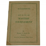 1949 Masters Tournament Spectator Guide - Scarce First Ever Issued - Sam Snead Winner
