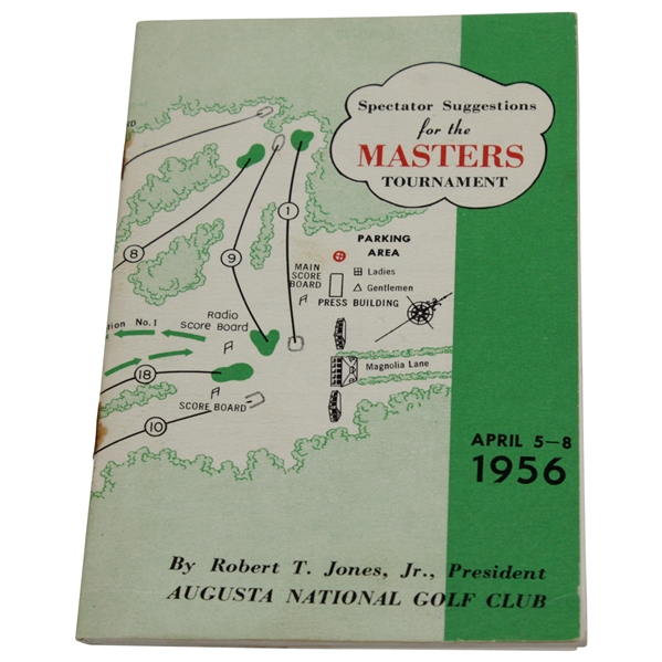 1956 Masters Tournament Spectator Guide - Jack Burke Jr. Winner