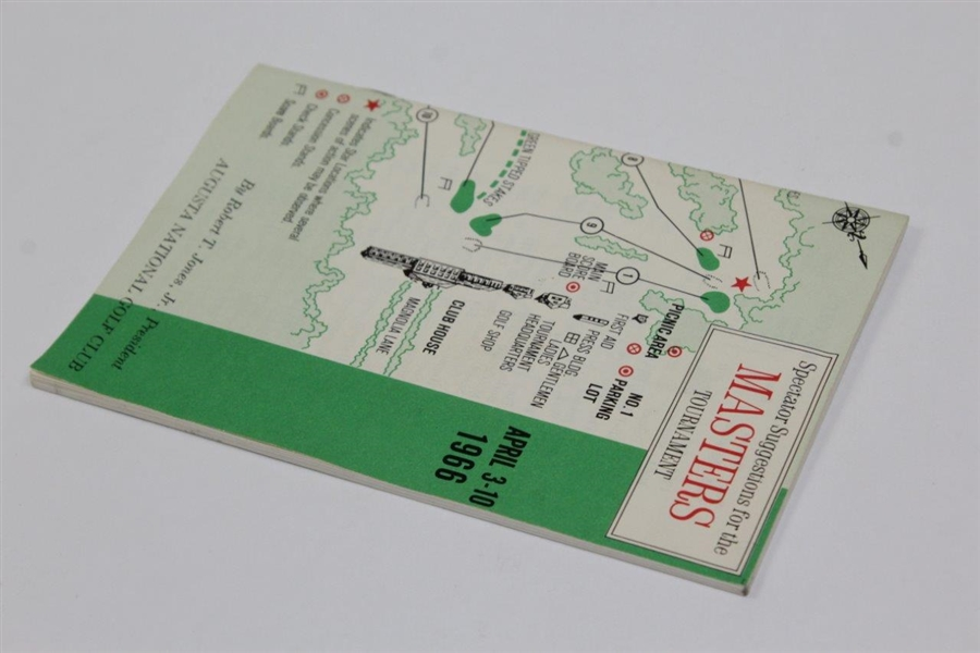 1966 Masters Tournament Spectator Guide - Jack Nicklaus Winner