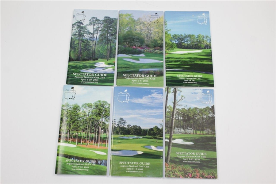 1989-2009 Masters Tournament Spectator Guides (12)