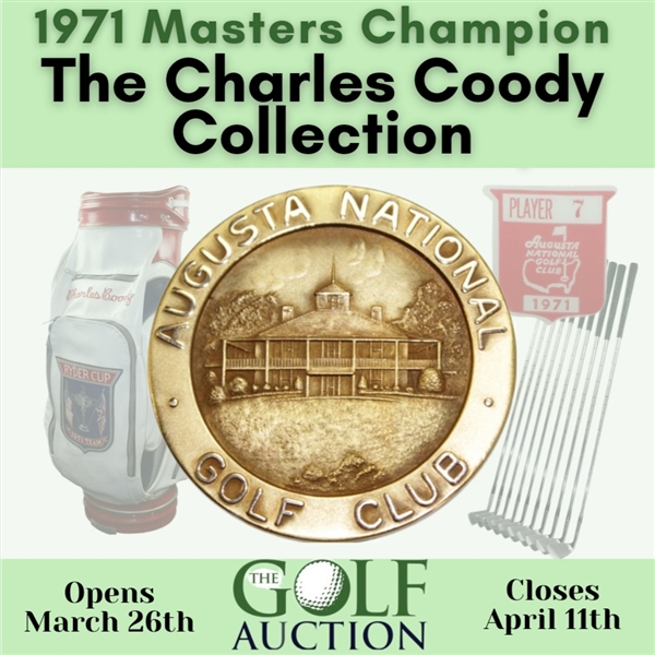 Charles Coody's 2017 Signed Masters Club Dinner Menu JSA ALOA