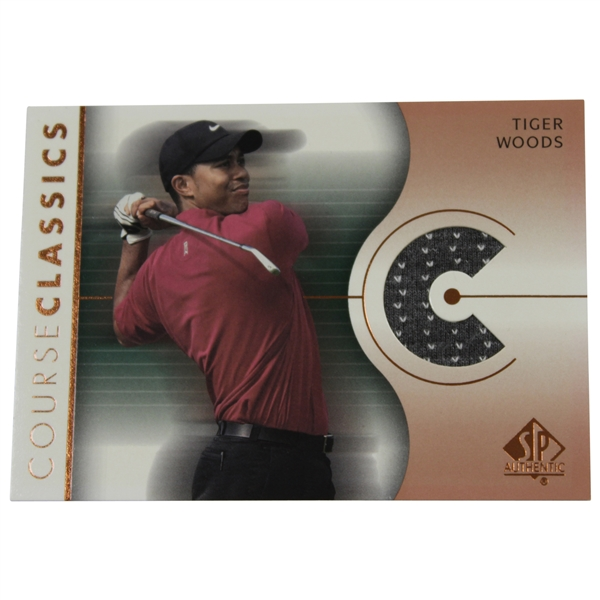 Tiger Woods 2003 Upper Deck Course Classics Golf Card - Game Used Shirt