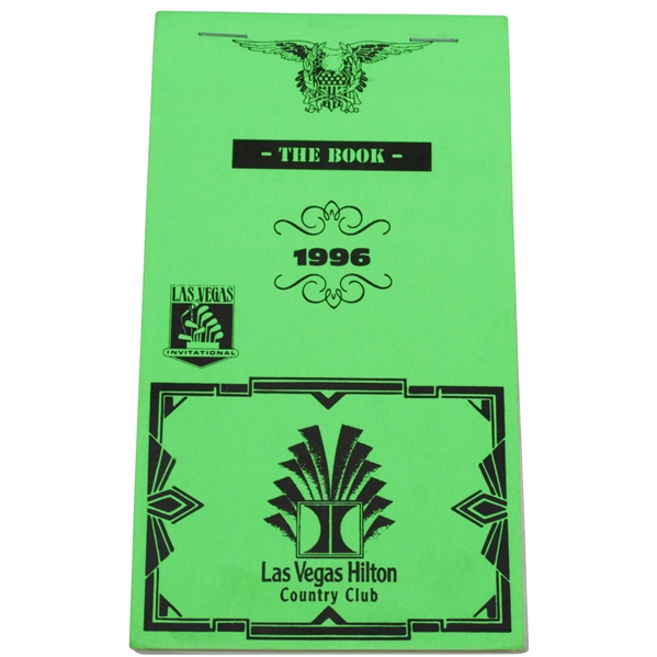 1996 Las Vegas invitational yardage book Tiger Woods first PGA win! rare book given to PGA players for the tournament