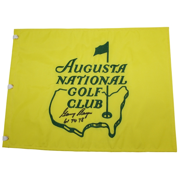 Gary Player Signed Augusta National Golf Club Member Flag with Years Won Notation JSA  ALOA