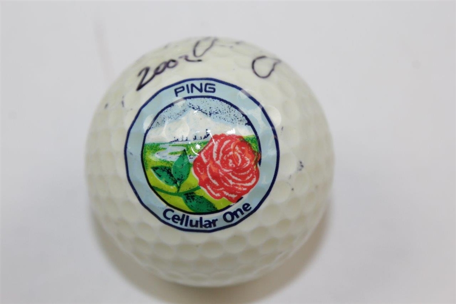 Nancy Lopez Signed Ping Classic Golf Ball JSA ALOA