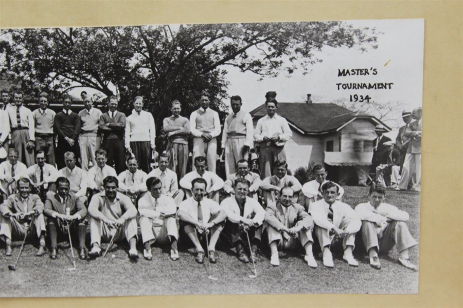 1934 Masters ('35 Oops!) (Augusta Invitational) Oversize From Original Field Photo - First Time Offered