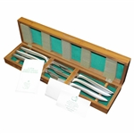 1983 Augusta National Golf Club Masters Tournament Member Gift Set of Six (6) Steak Knives in Box with Cards