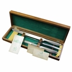 1982 Augusta National Golf Club Masters Tournament Member Gift Set of Three (3) Steak Knives in Box with Cards