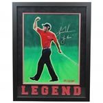 Tiger Woods Signed Ltd Ed 1/1 UDA Legend Tiger Roar Artist Enhanced Photo #BAK20391