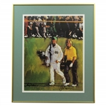 Jack Nicklaus & Jack Nicklaus Jr. Signed 1986 Masters 18th Fairway Print - Framed JSA ALOA