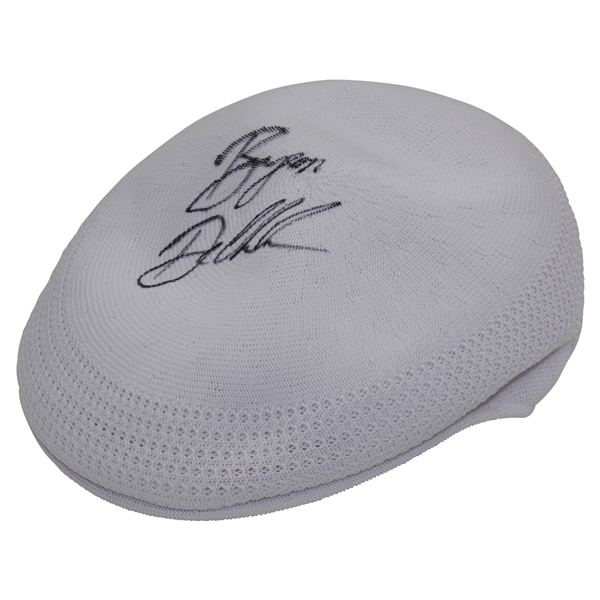 Bryson Dechambeau Signed Unused New White Kangol Hat - Style He Wears PSA/DNA #7A62311