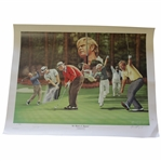 Jack Nicklaus Signed The Master of Augusta Alan Zuniga Ltd Ed 1/1988 Print JSA ALOA