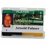 Arnold Palmers Personal 2009 Masters Tournament Player ID Badge #1