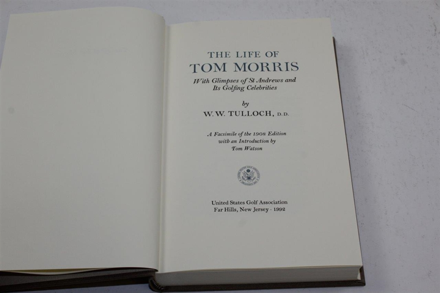 The Life of Tom Morris' by W.W. Tulloch 1992 USGA Edition