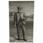 "Early Print of 1897 Old Tom Morris ""The Champion"" Photogravure by Jermyn Brooks"