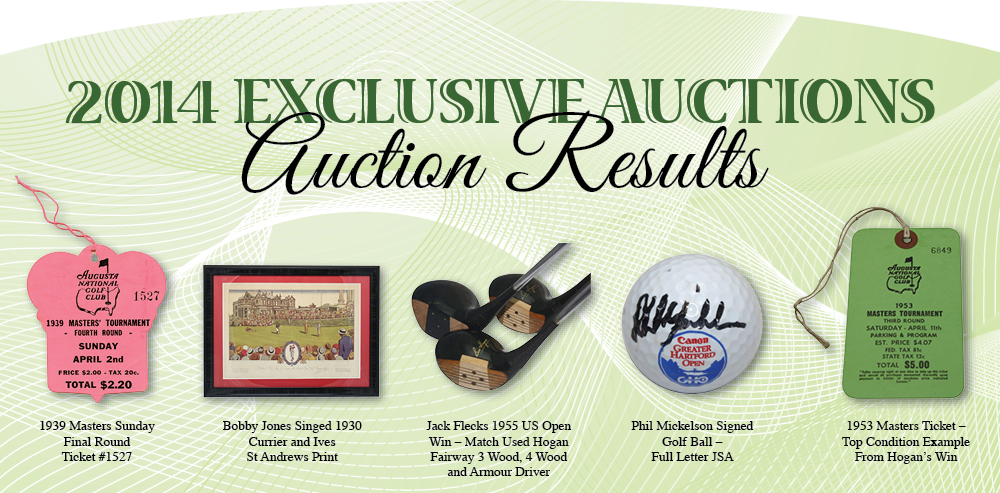 2014 Exclusive Auction Results